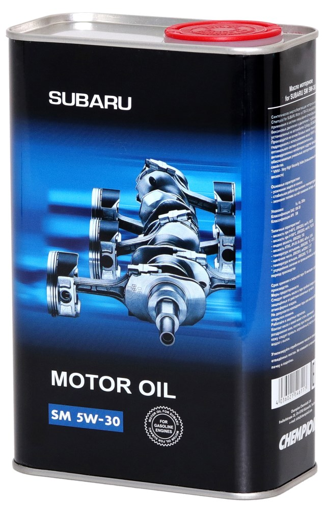 chempioil (metal) motor oil subaru 5w30 1л